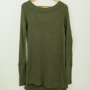 Free People Scoop neck Army Green Sweater